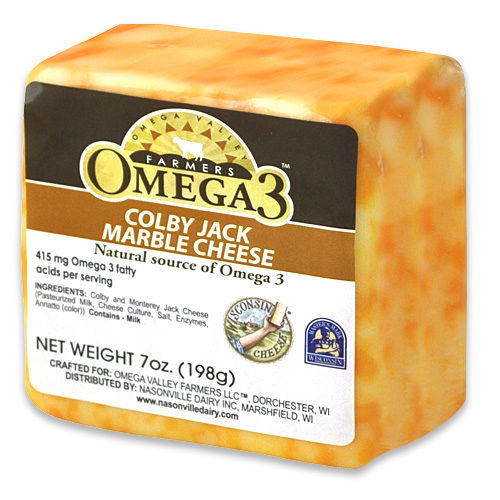 Omega 3 Colby Jack Marble