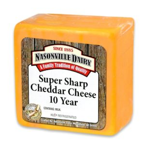 Super Sharp Cheddar Cheese Aged 10 Years