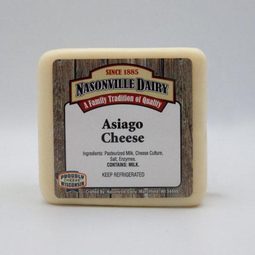 Nasonville Dairy asiago cheese 16oz block.