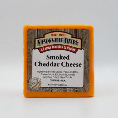 Nasonville Dairy smoked cheddar cheese 16oz block.