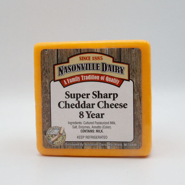 Super Sharp Cheddar Cheese Aged 8 Years
