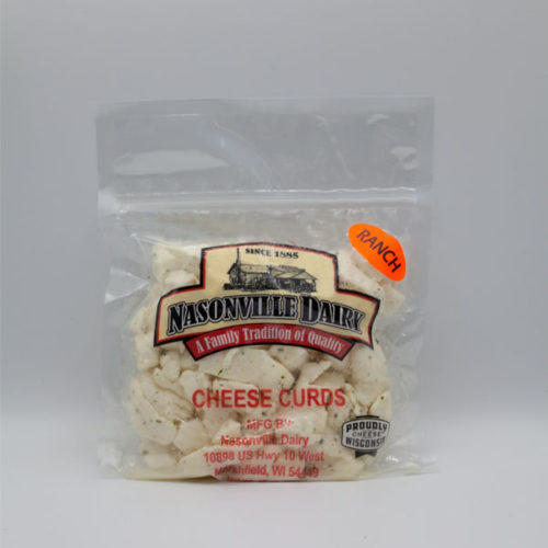 Nasonville Dairy ranch flavored cheese curd 16oz pack.