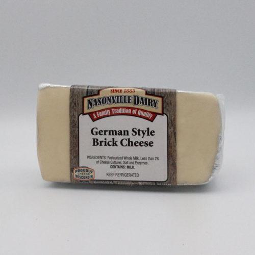 Nasonville Dairy german brick cheese 16oz block.