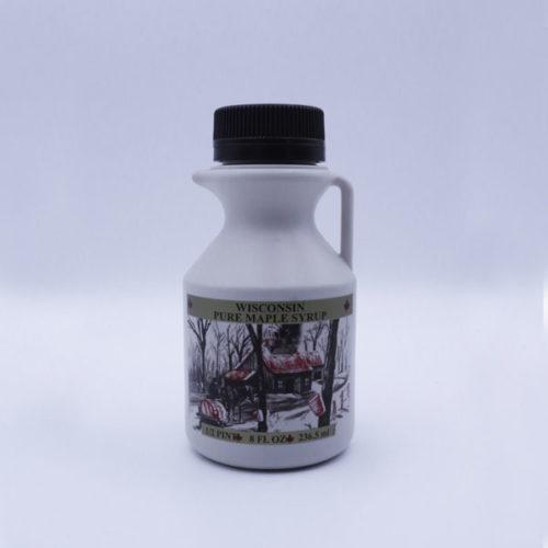 Maple syrup 8oz bottle.