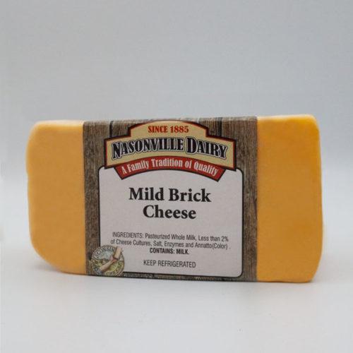 Nasonville Dairy mild brick cheese 16oz block.