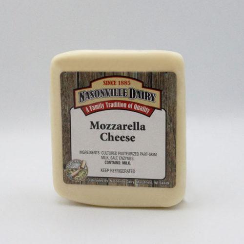 Nasonville Dairy mozzarella cheese 16oz block.