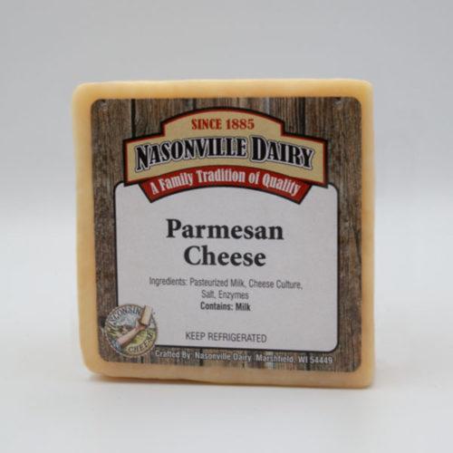 Nasonville Dairy parmesan cheese 16oz block.