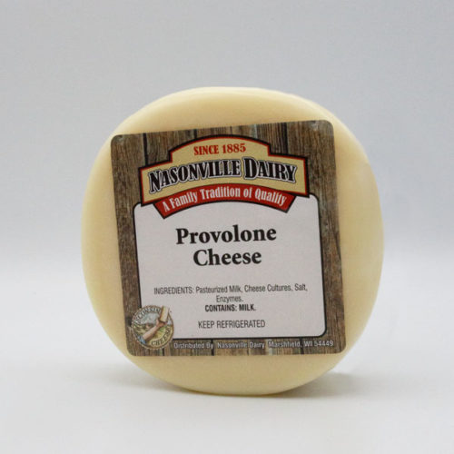 Nasonville Dairy provolone cheese 16oz block.