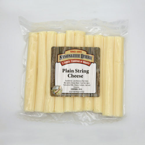 Nasonville Dairy plain string cheese.