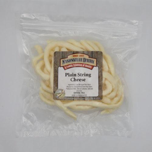 Nasonville Dairy plain string cheese whips.