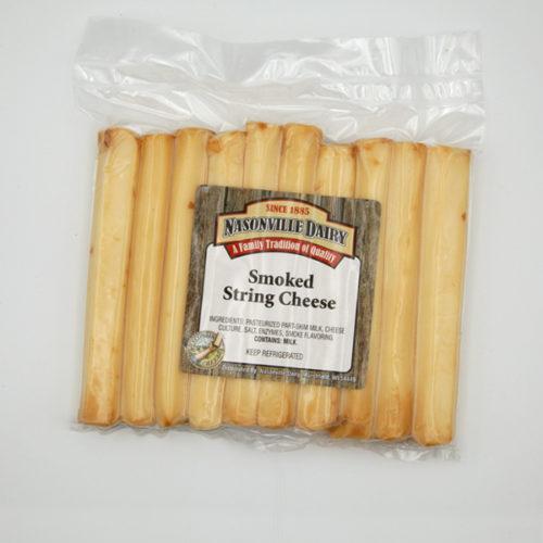 Nasonville Dairy smoked string cheese.