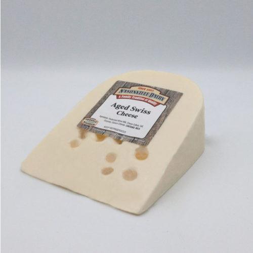 Nasonville Dairy aged swiss cheese 16oz block.
