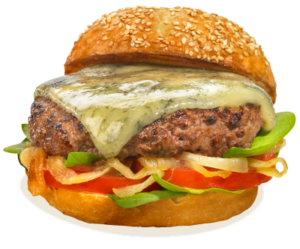 Blue Marble Cheese on Hamburger