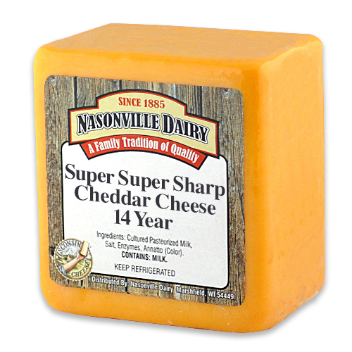 Super Super Sharp Cheddar Cheese Aged 14 Years