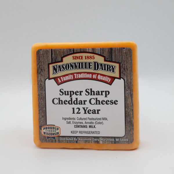Super Sharp Cheddar Cheese Aged 12 Years