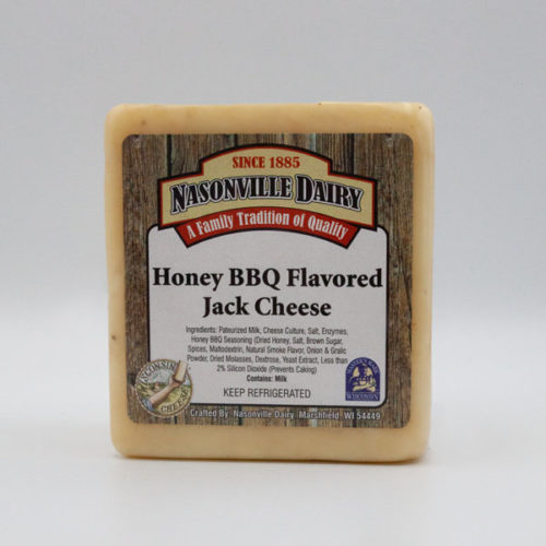 Nasonville Dairy honey bbq jack cheese 16oz block.