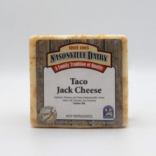 Nasonville Dairy taco jack cheese 16oz block.
