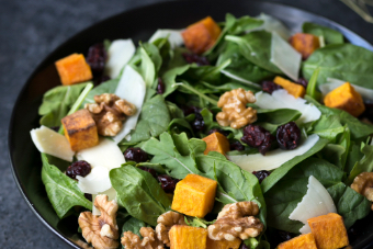 autumn green salad plate