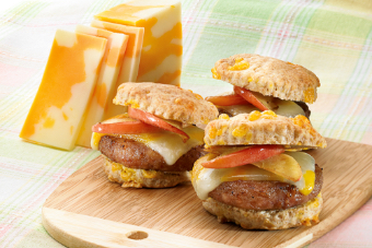 biscuits with sausage apples and cheddar