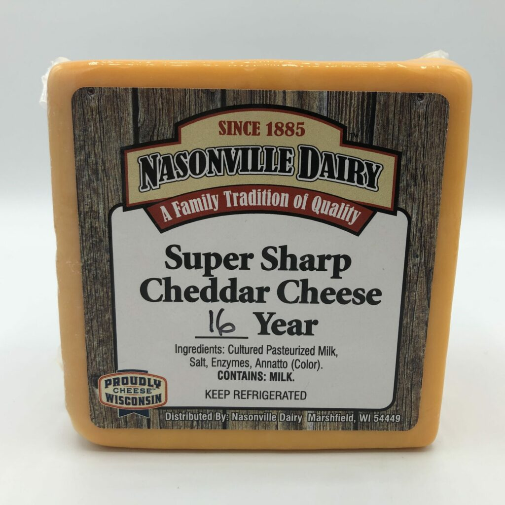 Super Super Sharp Cheddar Cheese Aged 16 Years