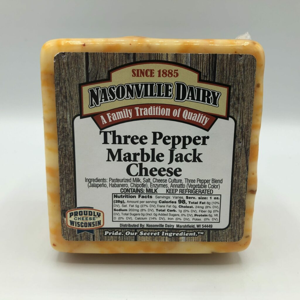 Three Pepper Marble Jack Cheese